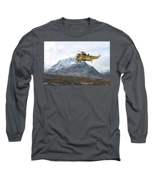 Long Sleeve T-Shirt featuring the digital art Raf Sea King - Sar by Pat Speirs