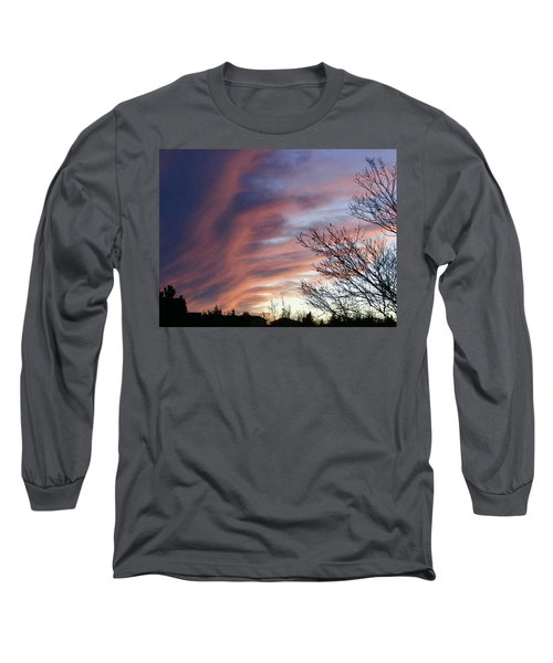 Raging Sky Long Sleeve T-Shirt by Barbara Griffin
