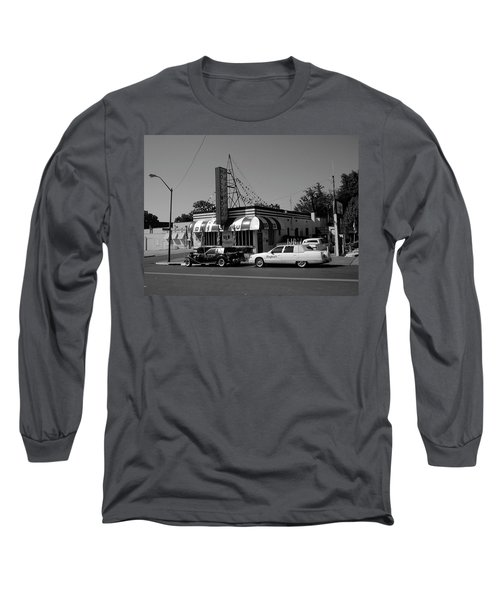 Long Sleeve T-Shirt featuring the photograph Raifords Disco Memphis A Bw by Mark Czerniec