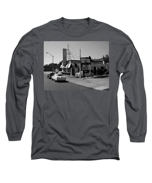 Long Sleeve T-Shirt featuring the photograph Raifords Disco Memphis B Bw by Mark Czerniec