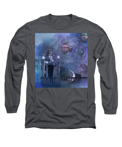 Rain And Balloons At Hearst Castle Long Sleeve T-Shirt by Jeff Burgess