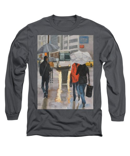 Rain In Midtown Long Sleeve T-Shirt
