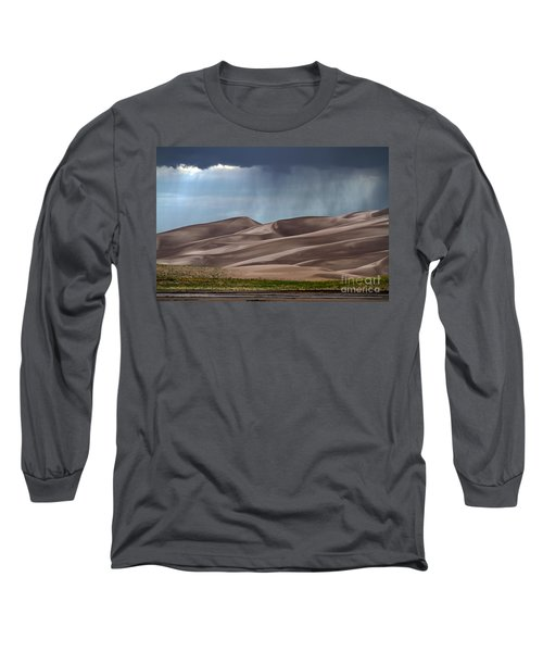 Rain On The Great Sand Dunes Long Sleeve T-Shirt by Catherine Sherman