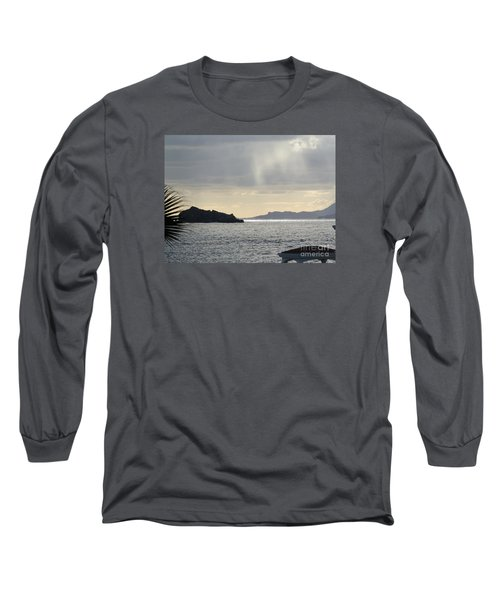 Rain Over Pelican Key Long Sleeve T-Shirt by Margaret Brooks