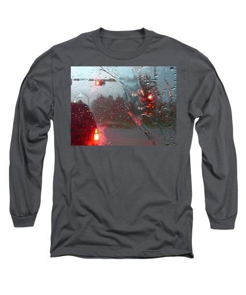 Long Sleeve T-Shirt featuring the photograph Rain by Rhonda McDougall