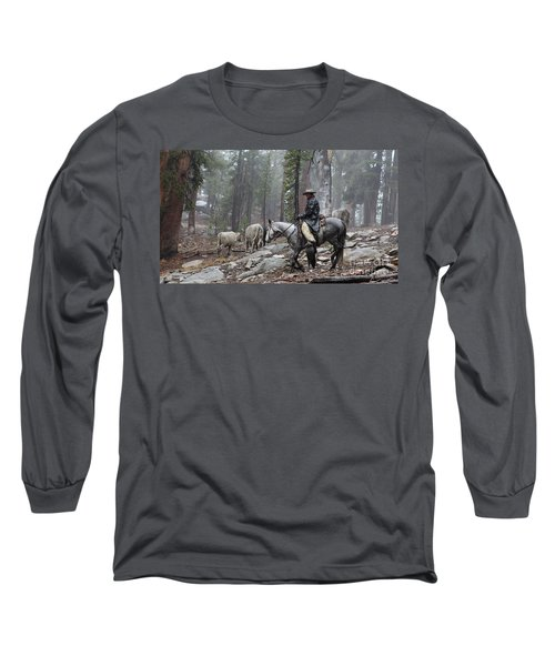 Rain Riding Long Sleeve T-Shirt by Diane Bohna