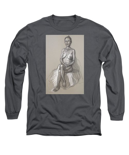 Rain Seated #2 Long Sleeve T-Shirt by Donelli  DiMaria