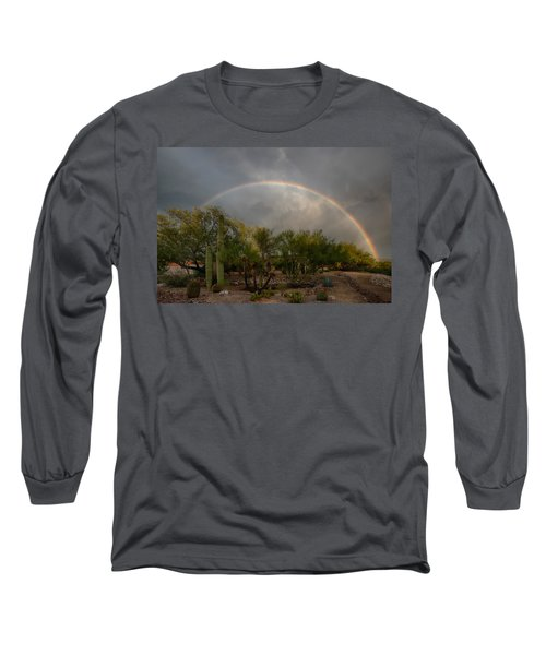Long Sleeve T-Shirt featuring the photograph Rain Then Rainbows by Dan McManus
