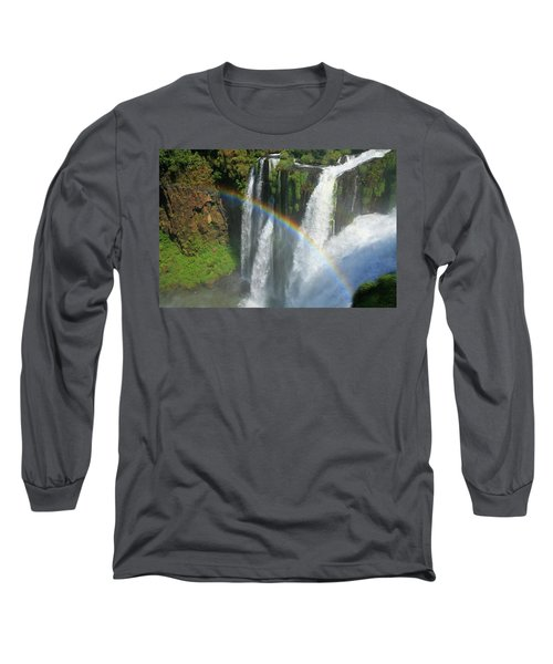 Rainbow At Iguazu Falls Long Sleeve T-Shirt