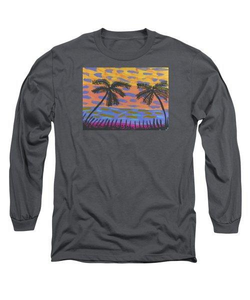 Rainbow Beach Long Sleeve T-Shirt by Artists With Autism Inc