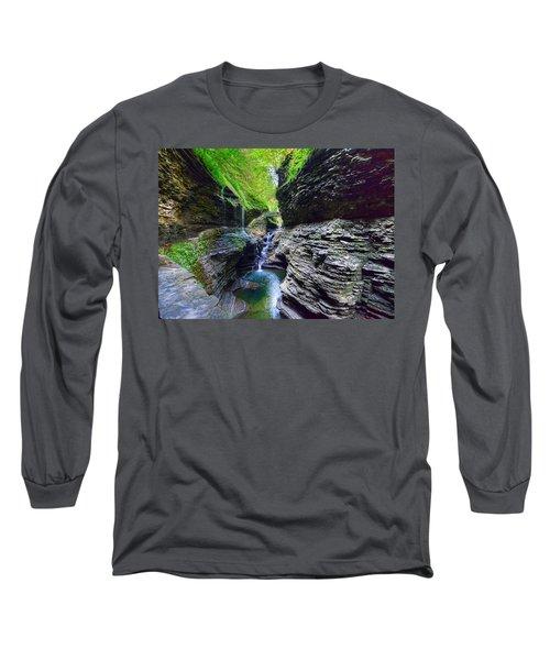 Rainbow Bridge And Falls Long Sleeve T-Shirt