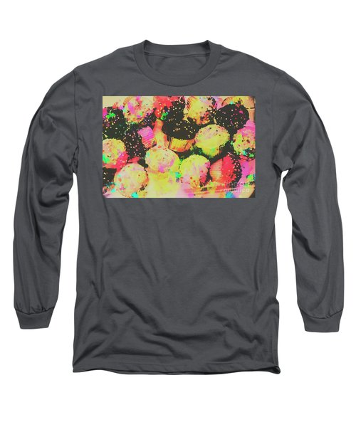 Rainbow Color Cupcakes Long Sleeve T-Shirt