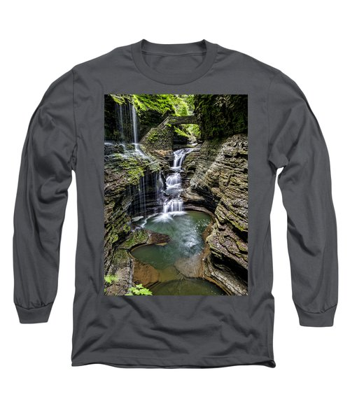 Rainbow Falls - Watkins Glen Long Sleeve T-Shirt