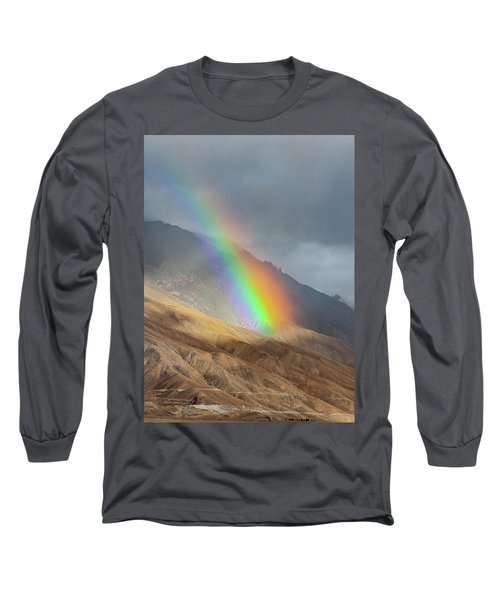 Long Sleeve T-Shirt featuring the photograph Rainbow, Kaza, 2008 by Hitendra SINKAR