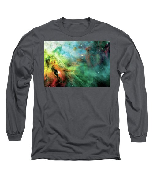 Rainbow Orion Nebula Long Sleeve T-Shirt by Jennifer Rondinelli Reilly - Fine Art Photography