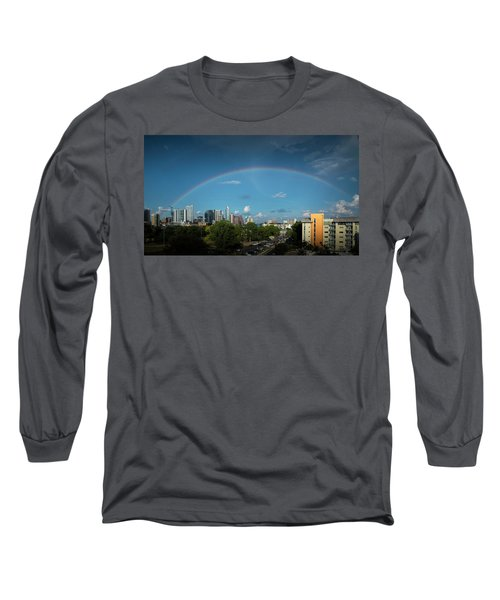 Rainbow Over Austin Long Sleeve T-Shirt