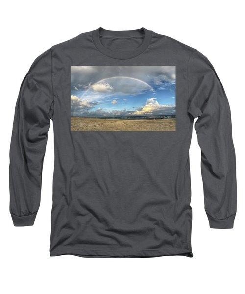 Rainbow Over Ocean Long Sleeve T-Shirt