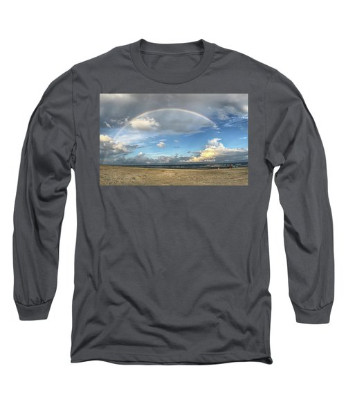 Rainbow Over Ocean Long Sleeve T-Shirt