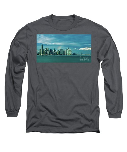 Rainbow Over Panama City Long Sleeve T-Shirt