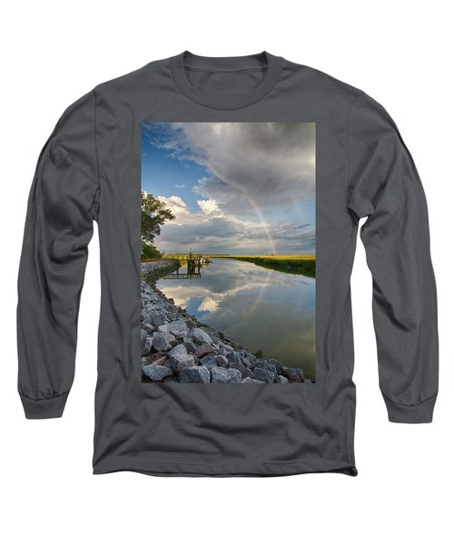 Rainbow Reflection Long Sleeve T-Shirt by Patricia Schaefer