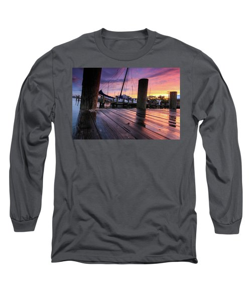 Rainbow Reflections Long Sleeve T-Shirt by Jennifer Casey