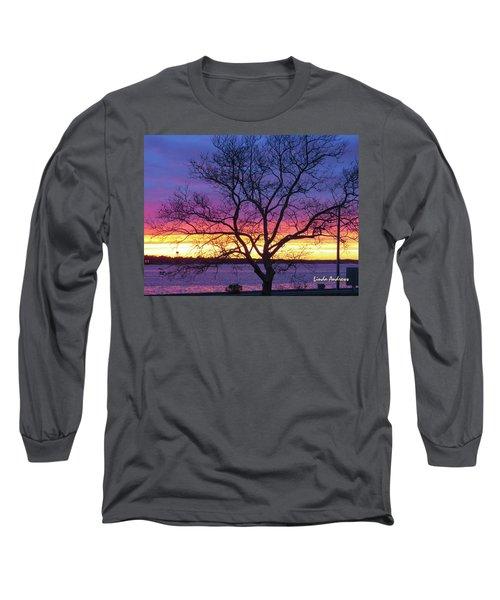 Rainbow Sunset Long Sleeve T-Shirt by Robert Henne