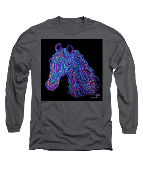 Rainbow Tribal Horse  Long Sleeve T-Shirt