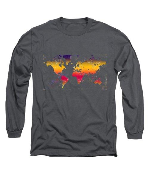 Rainbow World Tee Long Sleeve T-Shirt by Paulette B Wright