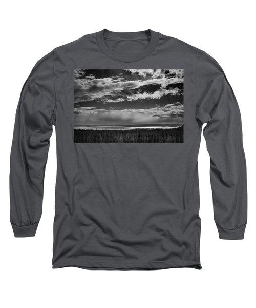 Long Sleeve T-Shirt featuring the photograph Raining At Yellowstone Lake by Jason Moynihan
