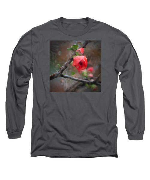 Raining Day Blossom  Long Sleeve T-Shirt by Catherine Lau