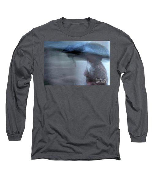 Raining In New Orleans Long Sleeve T-Shirt by Kathleen K Parker