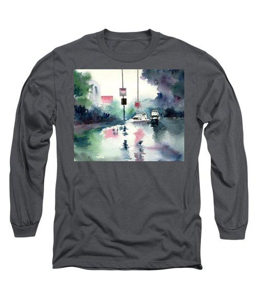 Rainy Day Long Sleeve T-Shirt by Anil Nene