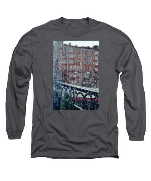 Rainy Day In Portsmouth Long Sleeve T-Shirt by Richard Ortolano