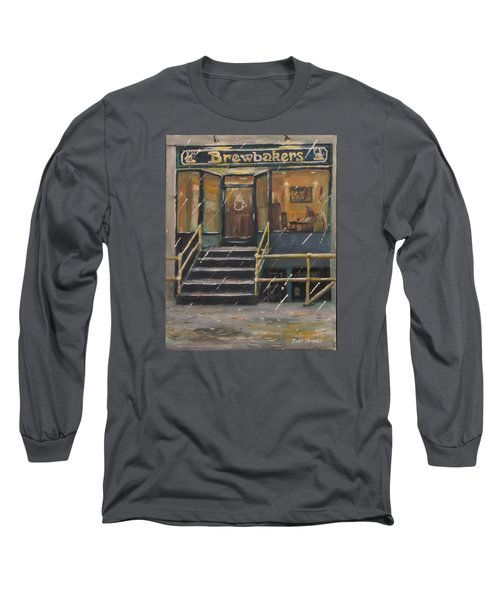 Rainy November Afternoon Coffee Long Sleeve T-Shirt