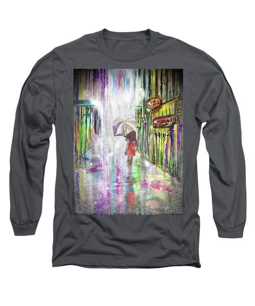 Rainy Paris Day Long Sleeve T-Shirt