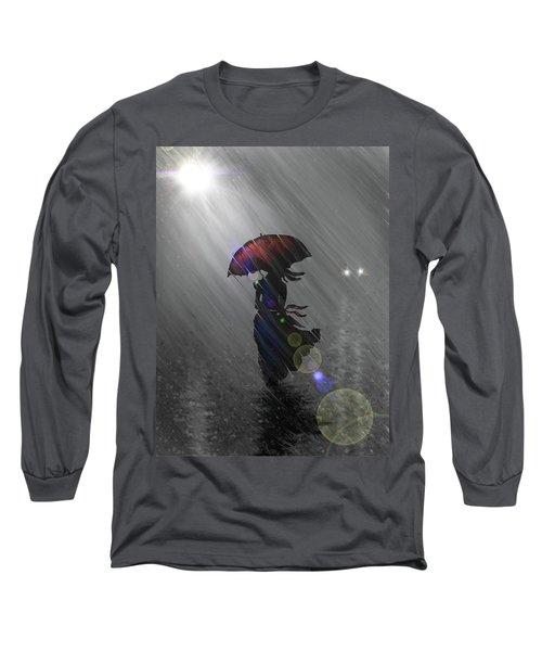 Rainy Walk Long Sleeve T-Shirt