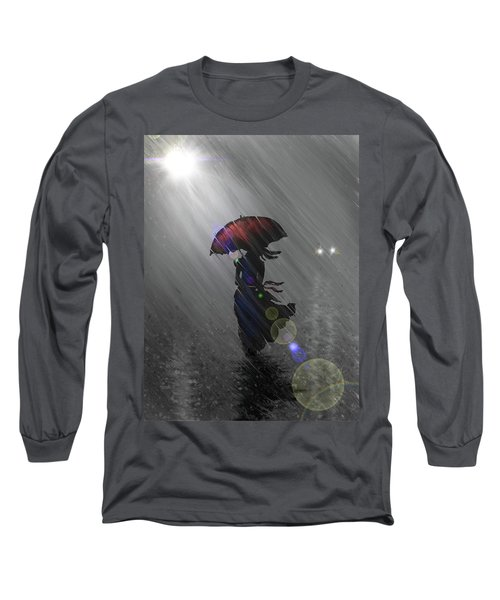 Rainy Walk Long Sleeve T-Shirt