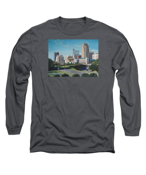 Raleigh Downtown Realistic Long Sleeve T-Shirt