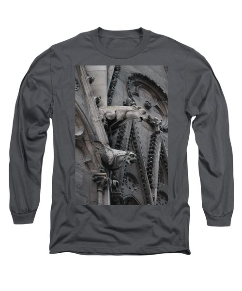 Long Sleeve T-Shirt featuring the photograph Ram And Eagle Griffon Notre Dame by Christopher Kirby