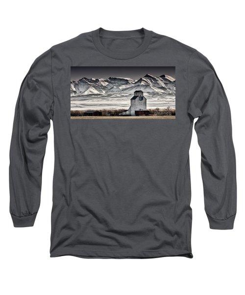 Ranchland Elevator Long Sleeve T-Shirt by Brad Allen Fine Art