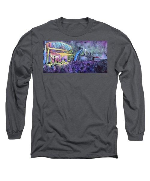 Rapid Grass Playing Clear Creek Rapidgrass Bluegrass Festival Long Sleeve T-Shirt
