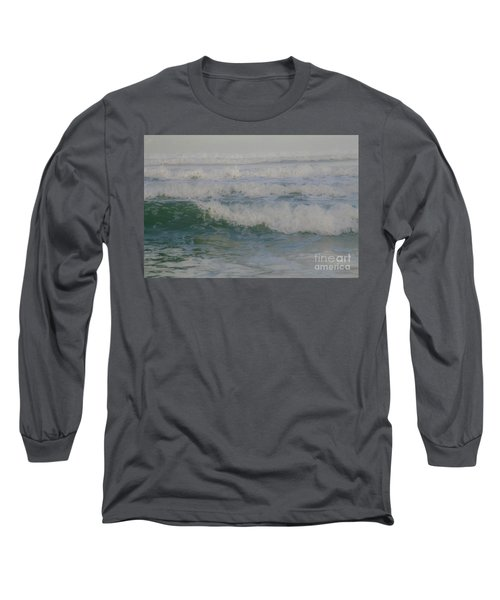 Rapid Waves Long Sleeve T-Shirt by Iris Greenwell