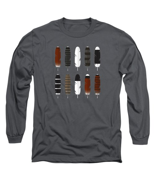 Raptor Feathers - Panoramic Long Sleeve T-Shirt