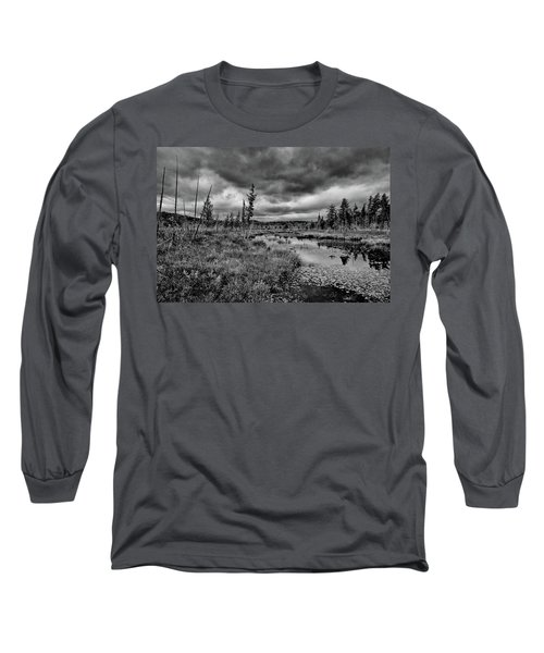 Long Sleeve T-Shirt featuring the photograph Raquette Lake Bog by David Patterson