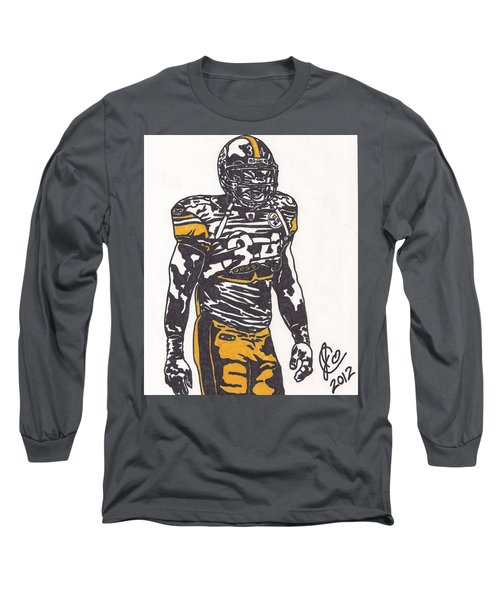 Long Sleeve T-Shirt featuring the drawing Rashard Mendenhall 2 by Jeremiah Colley