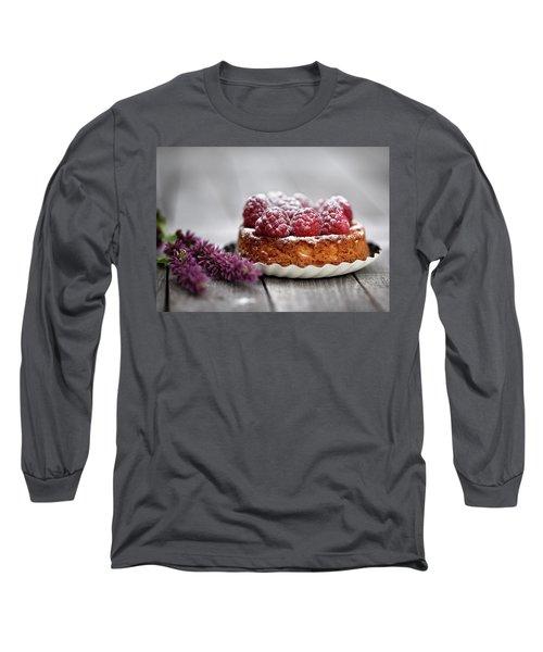 Raspberry Tarte Long Sleeve T-Shirt by Nailia Schwarz