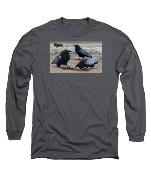 Raven Gathering Long Sleeve T-Shirt