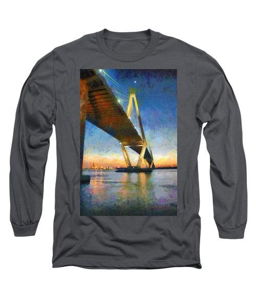 Ravenel Bridge Long Sleeve T-Shirt by Lynne Jenkins