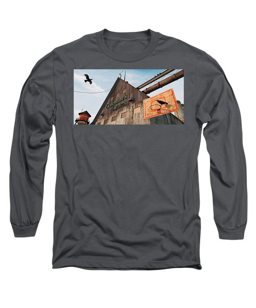 Long Sleeve T-Shirt featuring the painting Game On by Peter J Sucy
