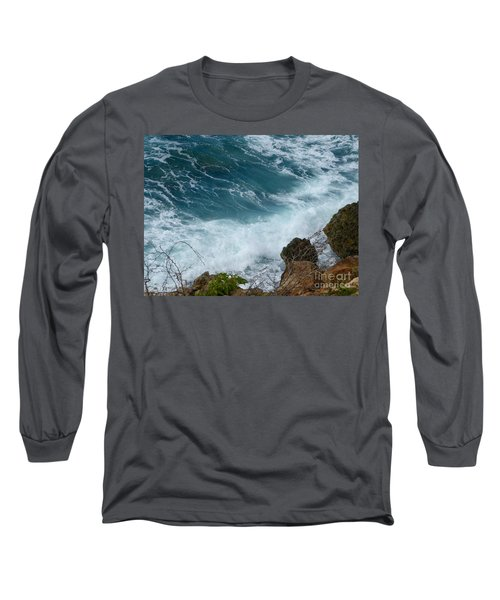 Raw Blue Power Long Sleeve T-Shirt by Margaret Brooks
